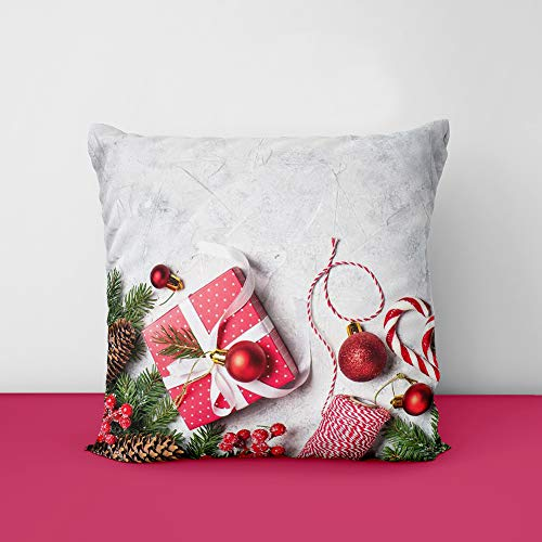51gEgJuH7oL Christmas Designs Printed Square Cushion Cover