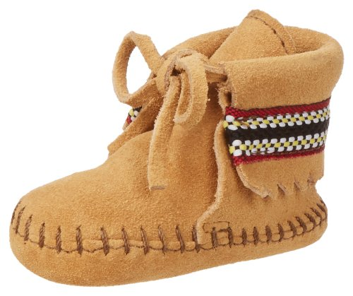 Minnetonka Braid Bootie (Infant/Toddler),Tan,1 M US Infant