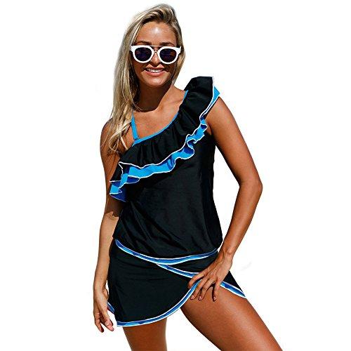 Bagno One Ruffled Bikini Tracolla Da Costume Regolabile Da Cheeky E Di Bikini Bagno Costume Dimen Unique Bikini Costume Shoulder Sling Grandi Donna Da Skirt Chic Alta Split Rimovibile Bagno Elasticità czqPTawSYT