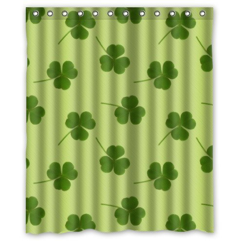Irish Shamrock 100% Polyester Shower Curtain