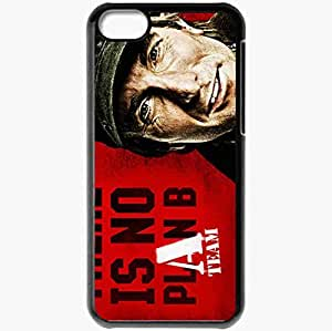 Personalized iPhone 5C Cell phone Case/Cover Skin A Team Sharlto Copley face Movies Black