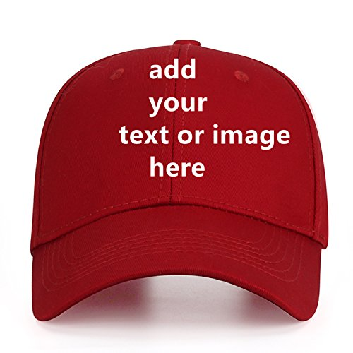 Custom Baseball Cap with Your Text,Personalized Adjustable Trucker Caps Casual Sun Peak Hat for Gifts]()