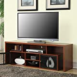 Convenience Concepts Designs2Go Modern Lexington 60-Inch TV Stand, Cherry