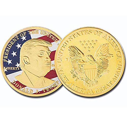 American Symbol Eagle Donald Trump Silver Commemorative Novelty Gift Coins