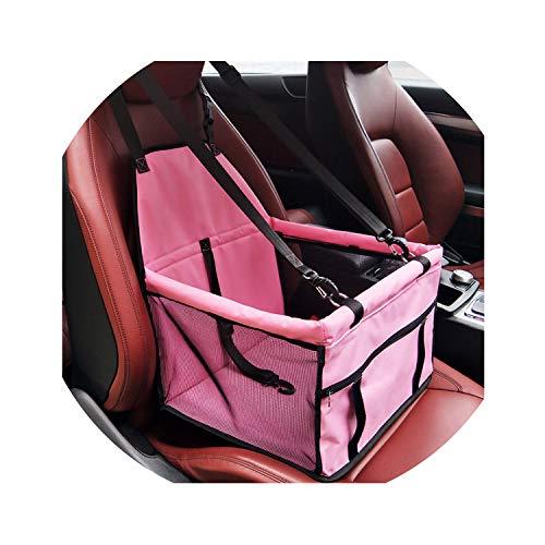 Dog Bag Basket Pet Products Fine Joy Pet Dog Carrier Car-Carrying Car Seat Pad Safe Carry House Cat Puppy Bag Car Travel Basket,Red,L