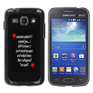 Samsung Galaxy Ace 3 III / GT-S7270 / GT-S7275 / GT-S7272 , Radio-Star - Cáscara Funda Case Caso De Plástico (Love Message)