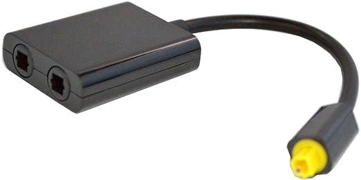 Cable de Audio de Fibra /óptica 1 a 2 Digital Toslink Negro