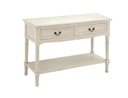 Attractive Deco 79 96211 Wood Console Table, 40u0026quot; X 29u0026quot;, Antique Ivory