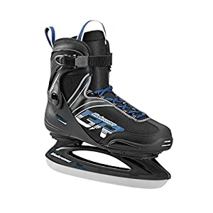 Bladerunner Ice by Rollerblade Zephyr Men's Adult Ice Skates, Black and Blue, Recreational, Ice Skates
