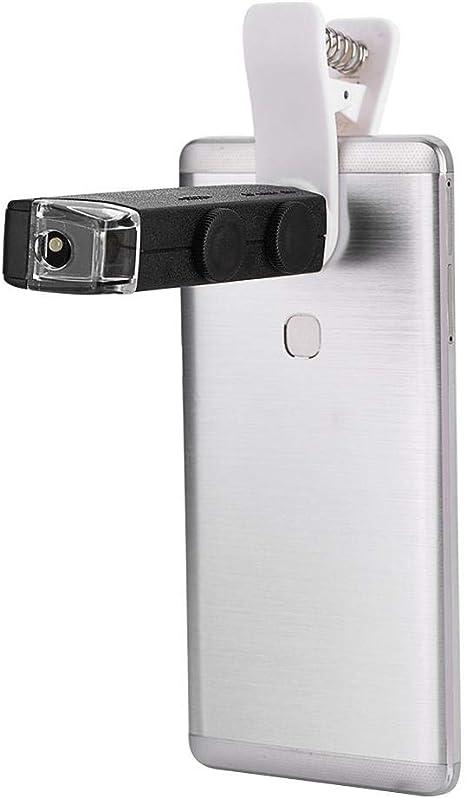 60X-100X - Lupa de microscopio con zoom con LED para smartphones ...