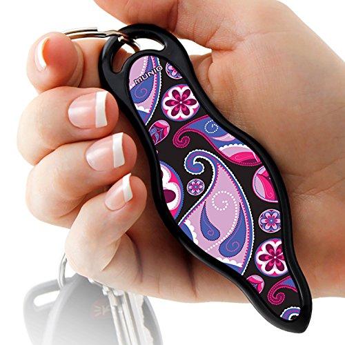 Spray Keychain Defense (MUNIO Designer Self Defense Keychain with Ebook (Pink Paisley))