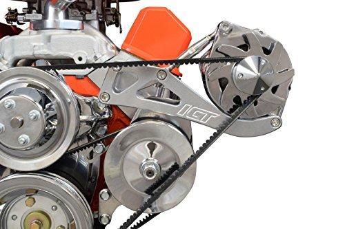 (SBC Driver Side Alternator Power Steering Bracket Kit for Long Water Pump 551742)