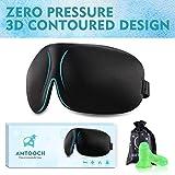 Higher Invisiable Nose Alar Upgrade AMTOOCH Sleep Mask 3D Contoured Soft Eye Masks Adjustable Strap Great for Travel, Shift Work, Nap, Meditation & Sleeping Aid