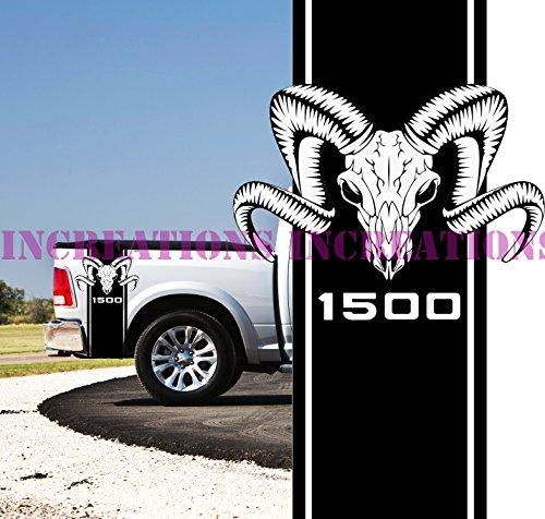 New Hemi Power Dodge Ram 1500 Head Truck Rear Bed Decals Mopar Stickers - Hemi Decals Dodge Ram