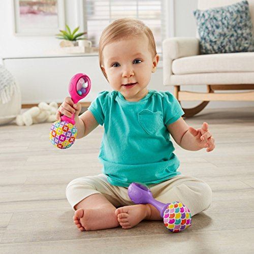 51gEixwSsJL - Fisher-Price Rattle 'n Rock Maracas, Pink/Purple