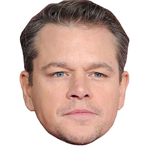 Matt Damon Celebrity Mask, Card Face and
