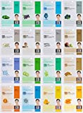 facial Dermal Korea Collagen Essence Full Face Facial Mask Sheet, 16 Combo Pack