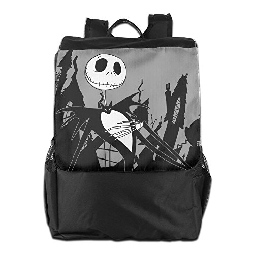 Jack Skellaton Halloween Fashion Shoulder Backpack Gym Bag