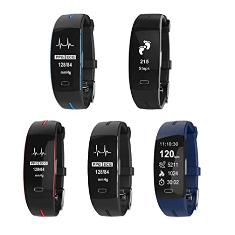 Idol Fitness Tracker, Heart Rate Monitor ECG PPG Calorie Counter Sleep Pedometer Smart Bracelet Activity
