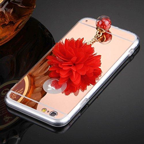 Phone Taschen & Schalen Für iPhone 6 Plus & 6s Plus Blume Kette Anhänger TPU Schutzhülle ( Color : Rose Gold )