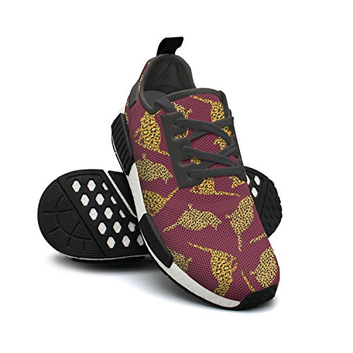 Leopard Mesh FAAERD Sneaker Running Womens Fashion Lightweight Print Rendy Shoes Cat Breathable Purple qBI4zwxIKO