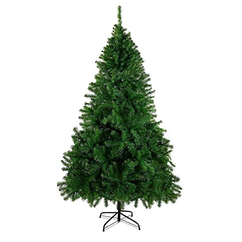 CHEERSON 7.5'Premium Christmas Pin Tree, Durable, Easy-Assembly Artificial Evergreen Christmas Tree with Solid Metal Legs Full Christmas Trees