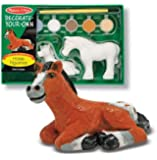 Melissa & Doug Decorate-Your-Own Horse Figurines - 2 Solid-Resin Figurines to Paint