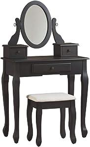 Signature Design by Ashley Huey Vineyard Vanity Set, Black