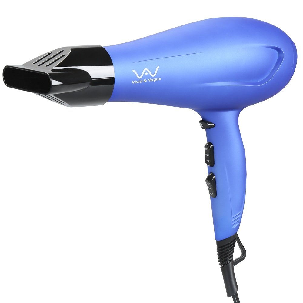VAV Hair Dryer Negative Iron Professional Blow Dryer, Blue