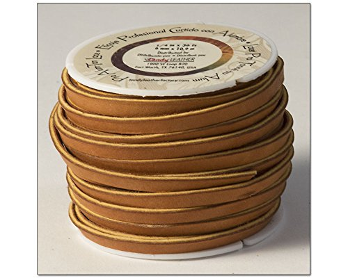 """Tandy Leather Pro Alum Tanned Lace 1/4"""" x 36 ft (6mm x 10.9 m) Tan 5058-03"""