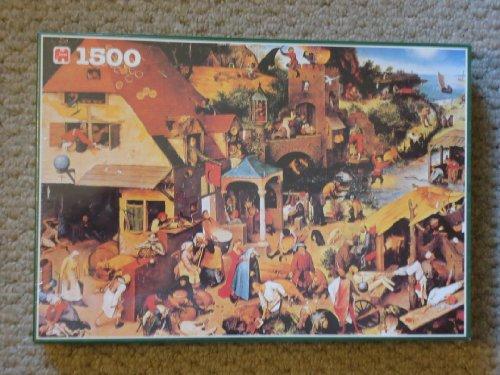"Jumbo 1500 Jigsaw Puzzle ""Proverbs"" By Pieter Bruegel"