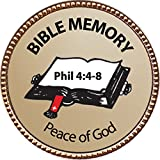 Peace of God (Phil 4:4-8) Bible Memory Award, 1 inch dia Gold Pin ''Bible Memory Achievements Collection'' by Keepsake Awards