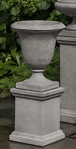 Campania International PPD-600-BR Linwood Urn with Low Wolcott Ped, Brown Stone Finish by Campania International