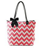 Ngil Quilted Cotton Medium Tote Bag 3 (Chevron Coral)