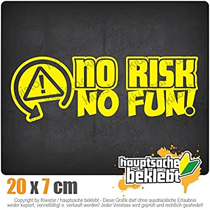 Kiwi Star autocollants – No Risk No Fun Racing Course voiture – Autocollant pour voiture sticker Bomb Decals Tuning couvrir
