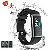 TEYO Fitness Tracker Watch, Activity Tracker Smart Watch with Heart Rate Blood Pressure Monitor, Color Screen Smart Band with Sleep Monitor Step Calorie Counter Pedometer Watch Waterproof