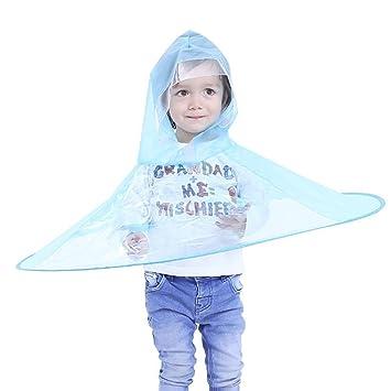 Amazon.com  YRD TECH Creative UFO Children Rain Hat Umbrella Non Handle  Rain Cape Poncho For Kids and Students Raincoat (S(90-120CM) 517a7ac71