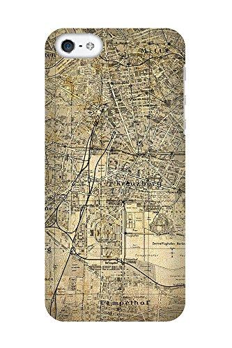 iPhone 4/4S Coque photo - Retro Map Berlin Sépia