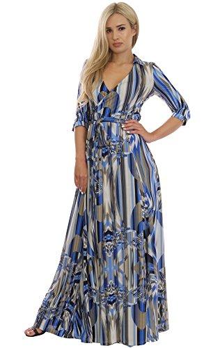 BLACK FRIDAY OFFER Elegant Ladies Maxi Dress Wedding Party Vintage Style Wrap Design