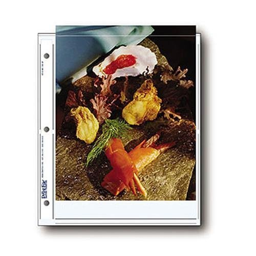Archival Photo Pages Holds Two 8 x 10'' Prints, Pack of 25