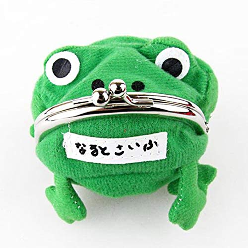 DishyKooker HOT Anime Naruto: Cute Green Frog Coin Bag Cosplay Props Animal Plush Toy Purse Wallet Funny Gift Show (Naruto Purse Frog)