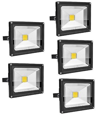 Leetop 5X 20W 30W 10W Negro Blanco Cálido Foco Proyector LED ...