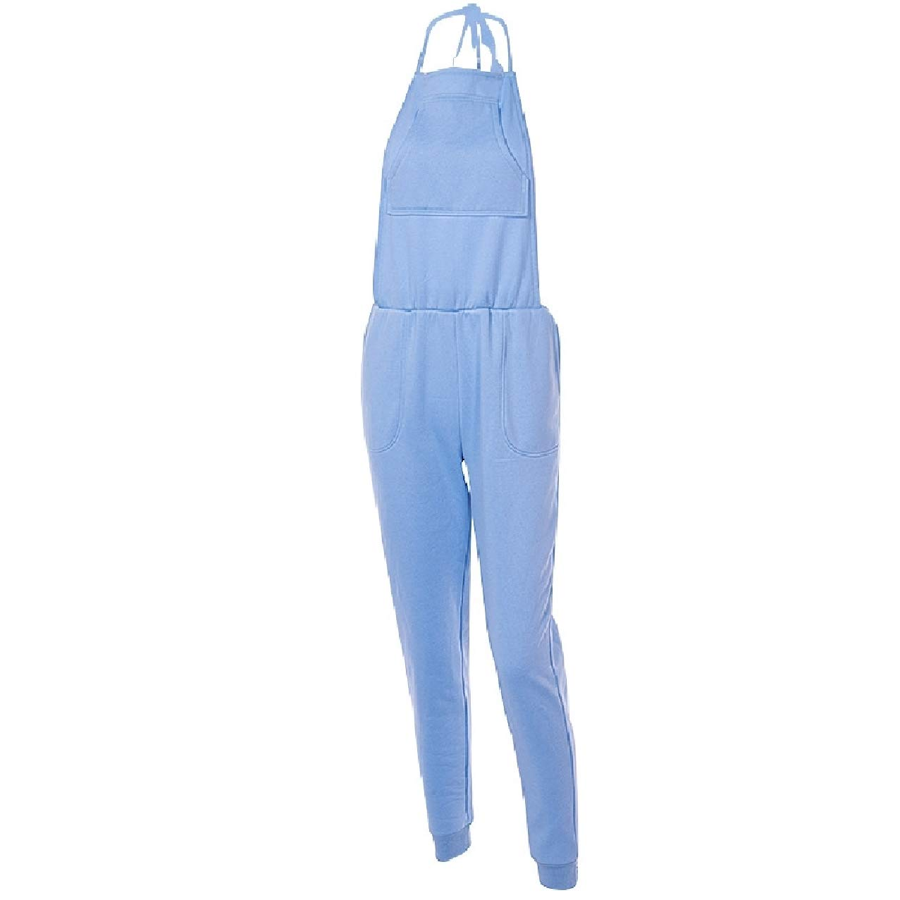 Zimaes-Women Backless Soft Slim Fitted Fine Cotton Overalls Bib Playsuit
