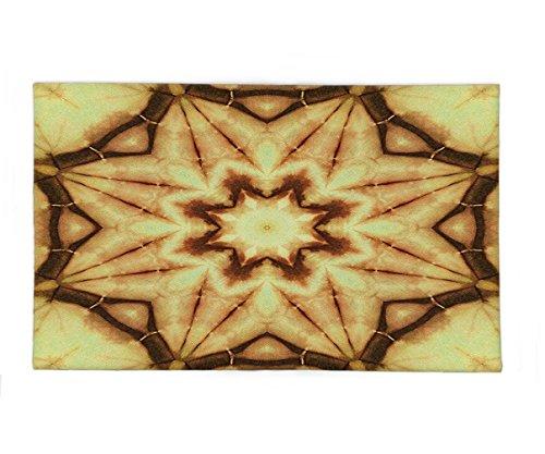 Interestlee Fleece Throw Blanket Tie Dye Decor Trippy Ethnic Thai Mandala Motif with Dirty Grunge Smear and Rough Stains Mustard Brown by Interestlee