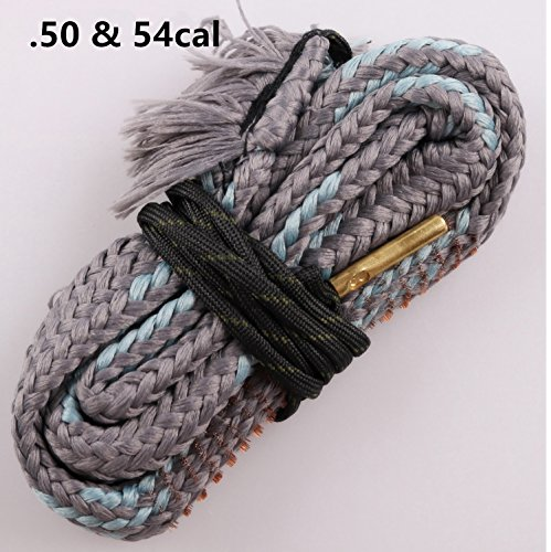 (New Bore Cleaner .50 Cal .54 Cal Gun Barrel Cleaning Rope Rifle/Pistol/Shotgun Brass Brush Cleaning Cord)