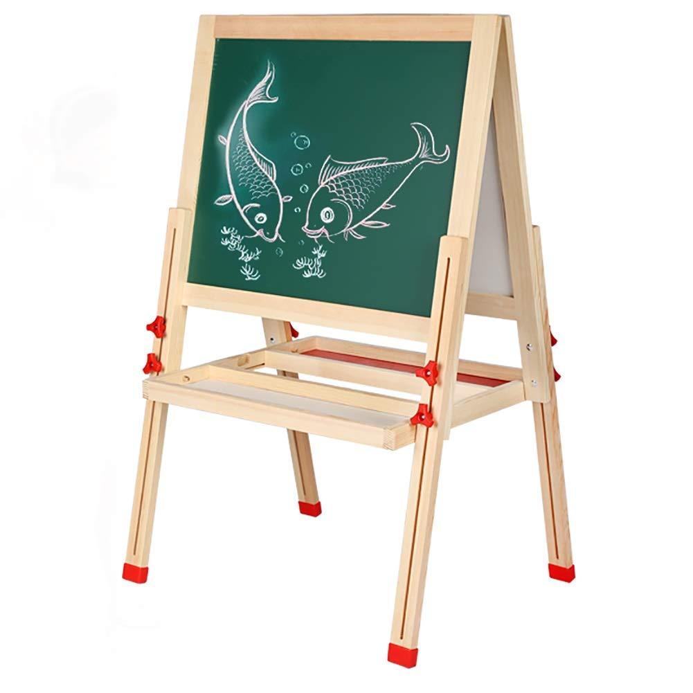 イーゼル 子供のイーゼルの木の高さの調節可能な両面の黒板、子供の芸術家のイーゼル   B07RXBXHG9