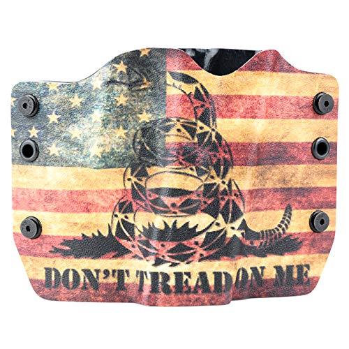 Don't Tread On Me Tan Snake Flag OWB Holster (Right-Hand