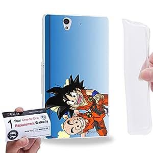 Case88 [Sony Xperia Z] Gel TPU Carcasa/Funda & Tarjeta de garantía - Dragon Ball Z GT AF Son Goku & Kuririn 0587