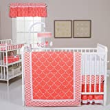 Trend Lab Shell 3 Piece Crib Bedding Set, Coral/White Reviews