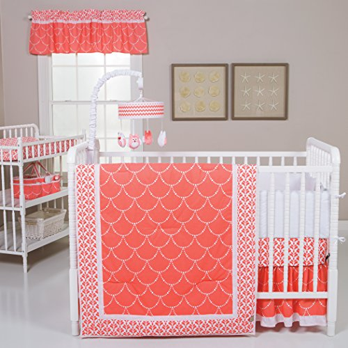 Trend-Lab-Shell-3-Piece-Crib-Bedding-Set-CoralWhite